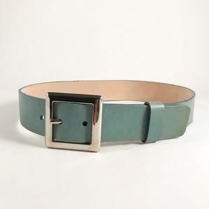 Oscar de la Renta Turquoise Belt w/Silver Buckle